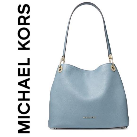 f5c65d07dbf7 Michael Kors Bags   New Mk Genuine Pebble Leather Raven Shoulder Bag ...